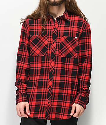 Broken Promises Paranoid Red & Black Flannel Shirt