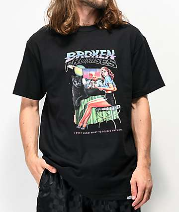 Broken Promises Skeptic Black T-Shirt