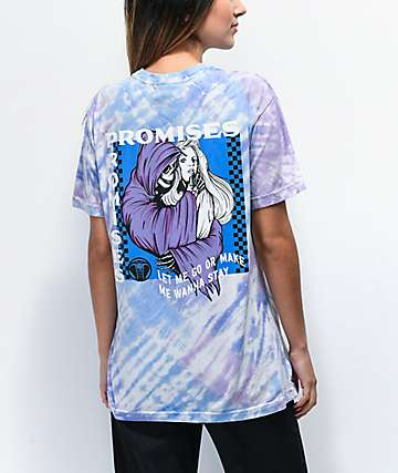 Broken Promises Smother Blue & Purple Tie Dye T-Shirt