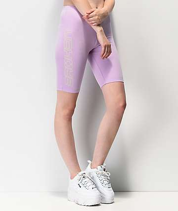 Broken Promises Spaced Out Lavender Bike Shorts