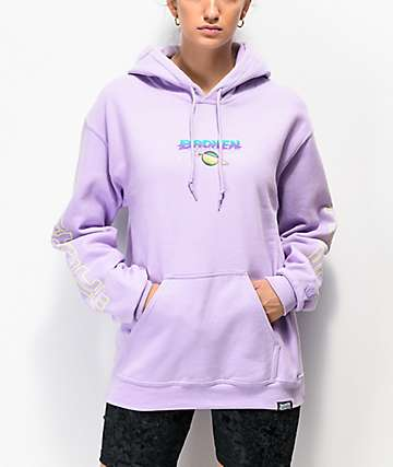Broken Promises Spaced Out Lavender Hoodie