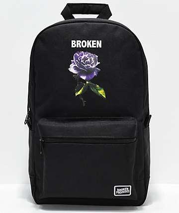 Broken Promises Thornless Black Backpack