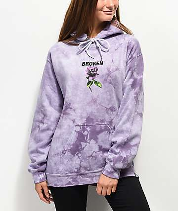 Broken Promises Thornless Purple Hoodie