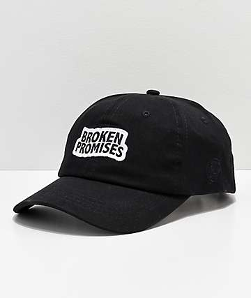 Broken Promises Wave Logo Black Strapback