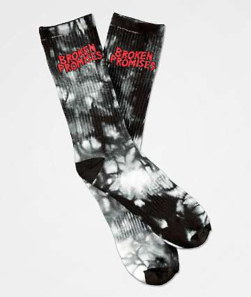 Broken Promises Wave Logo Tie Dye Crew Socks