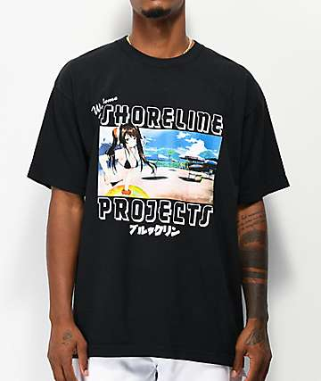 Brooklyn Projects x Shoreline Mafia Postcard Black T-Shirt