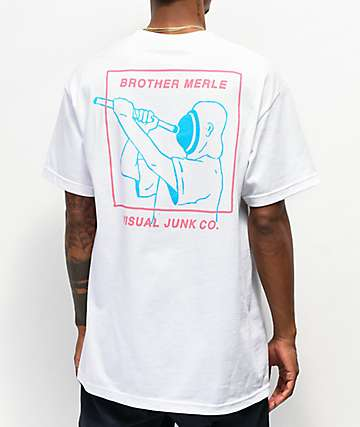 Brother Merle Plunger White T-Shirt