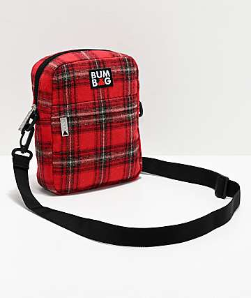 Bumbag Afrim Red Plaid Shoulder Bag