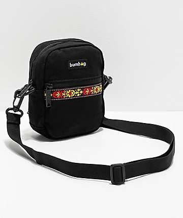 Bumbag Renfro bolso de hombro de lienzo negro