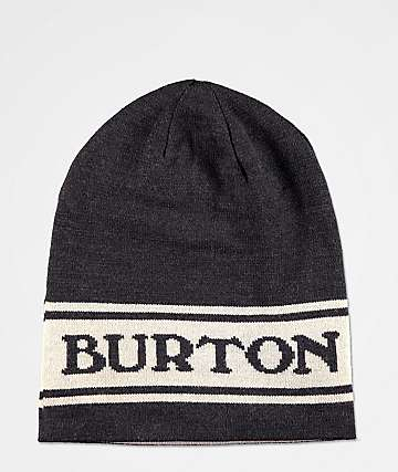 Burton Billboard Slouch True Black & Grey Beanie
