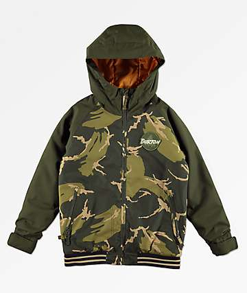 Burton Boy's Game Day Camo 10K Snowboard Jacket