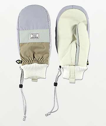 Burton DAM Aqua & Grey Snowboard Mittens