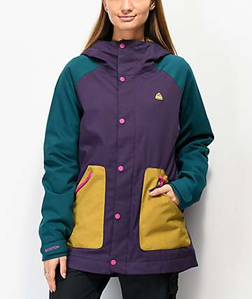 Burton Eastfall Purple Colorblock 10K Snowboard Jacket