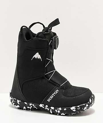 Burton Grom Boa Black Snowboard Boots Kid's 2020