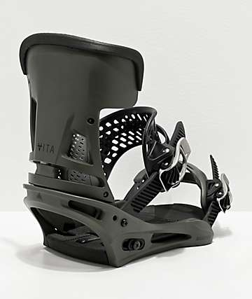 Burton Malavita Dark Grey Snowboard Bindings 2020