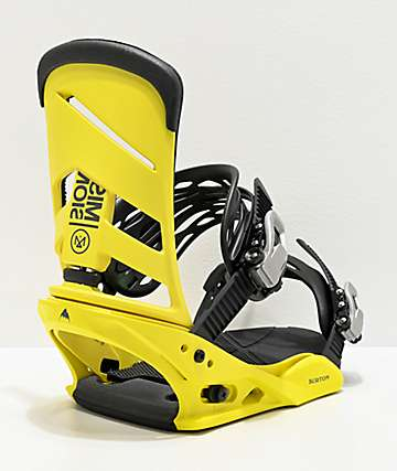 Burton Mission Yellow Snowboard Bindings 2020
