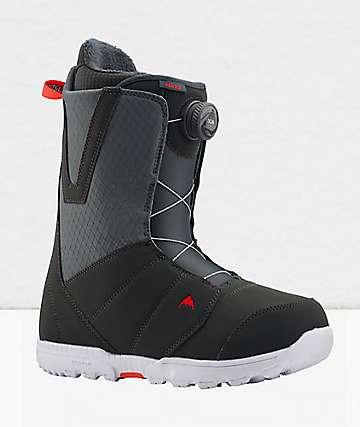 Burton Moto Boa Grey & Red Snowboard Boots 2020