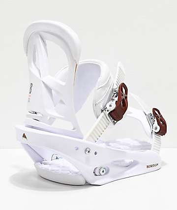 Burton Stiletto White Snowboard Bindings Women's 2020