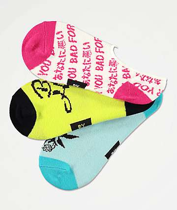 By Samii Ryan Bad Habits 3 Pack No Show Socks