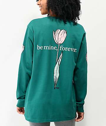 By Samii Ryan Be Mine Teal Long Sleeve T-Shirt