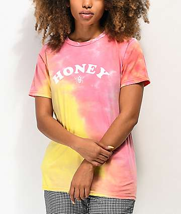 By Samii Ryan Honey Pink & Yellow Tie Dye T-Shirt