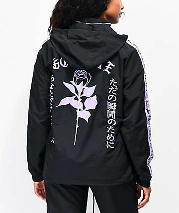 By Samii Ryan Kanji Lust Black Anorak Windbreaker Jacket
