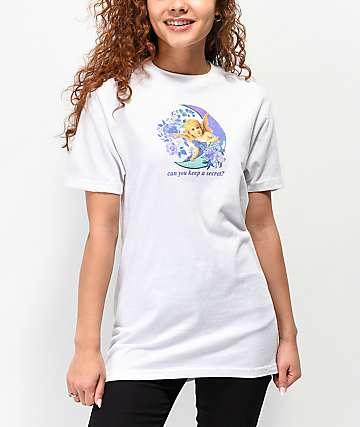 By Samii Ryan Keep A Secret White T-Shirt