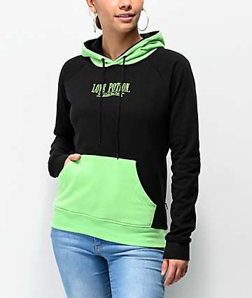 By Samii Ryan Love Potion Black and Green Hoodie