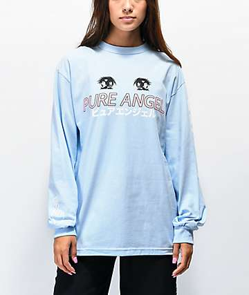 By Samii Ryan Pure Angel Blue Long Sleeve T-Shirt