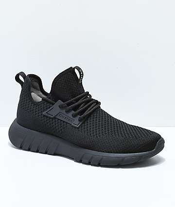 CU4TRO Bolt All Black Knit Shoes