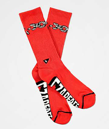 CZARFACE x Arvin Goods Gym Chain Red Crew Socks