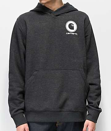 Carhartt Force Delmont Charcoal Hoodie