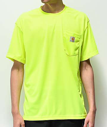 Carhartt Neon Green Force Color Enhanced Mesh T-Shirt