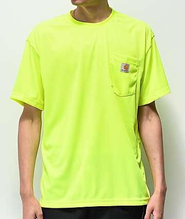 Carhartt Neon Green Force Color Enhanced Mesh T-Shirt