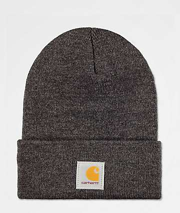 Carhartt Watch Dark Grey Cuff Beanie