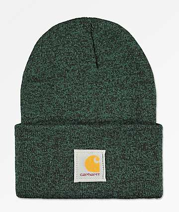 Carhartt Watch Hunter Green & Black Fold Beanie