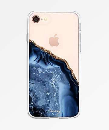 Casery Dark Blue Agate 8, 7, 6S Phone Case
