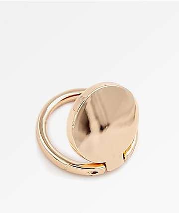 Casery anillo de teléfono de oro