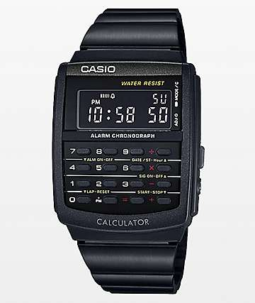 Casio Vintage Calculator Black Watch