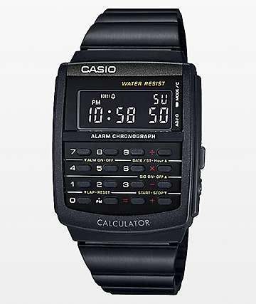 Casio Vintage Calculator Black Watch