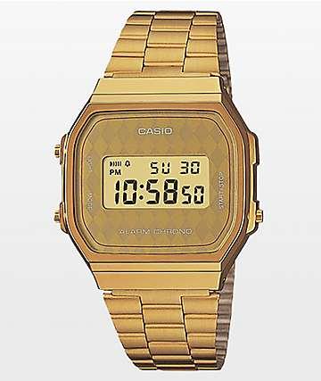 Casio Vintage Gold Diamond Face Digital Watch