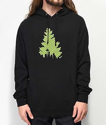 Casual Industrees Checkered Johnny Tree Black Hoodie