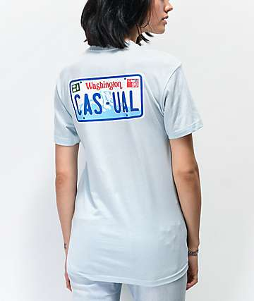 Casual Industrees Drive Casual Light Blue T-Shirt
