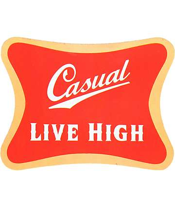 Casual Industrees Live High Sticker