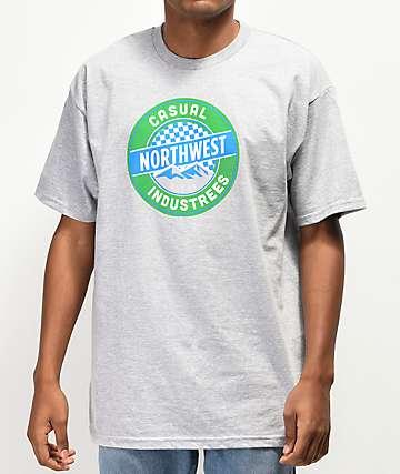 Casual Industrees Northwest Puck camiseta gris