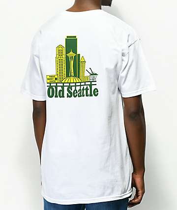Casual Industrees Old Seattle White T-Shirt