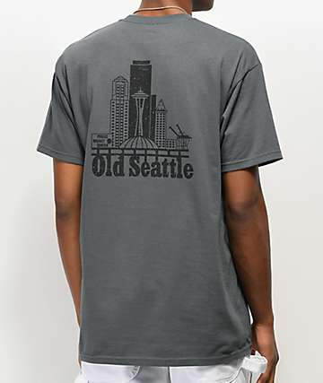 Casual Industrees Old Seattle camiseta de color carbón