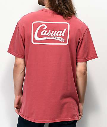 Casual Industrees PNW Down Since 99 camiseta roja