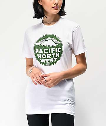 Casual Industrees PNW Patina White & Green T-Shirt