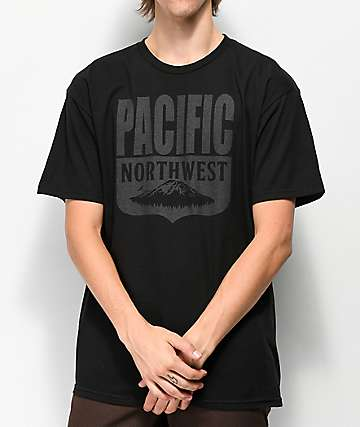 Casual Industrees PNW Shield Black T-Shirt